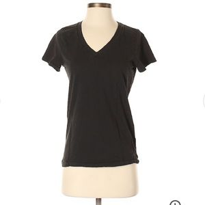 J.Crew Factory Layering V-Neck T-Shirt in Black.